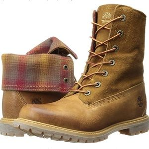Timberland Authentic Pendleton Fabric Fold Boots